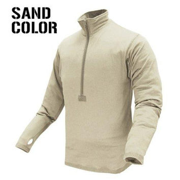 Base II Zip Pullover Color- Sand (Large)