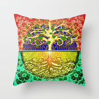 Tree of Life Heart Throw Pillow by TreeofLifeShop