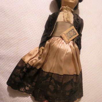 Vintage 1930's N.A.T.I. Cloth Doll All original outfit