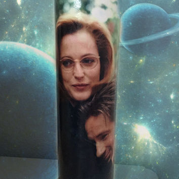X Files Mulder Scully Candle