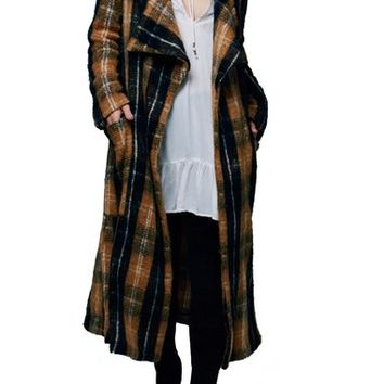 Free People 'Anaheim' Plaid Coat | Nordstrom