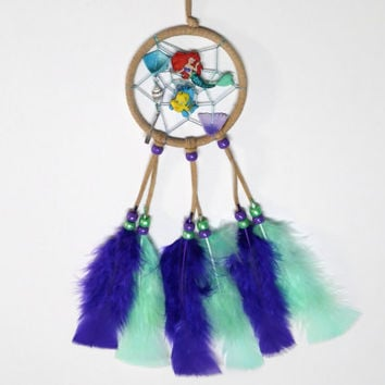 Disney Ariel the Little Mermaid Dream Catcher, beige mermaid car dream catcher