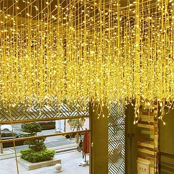 4.5m Garland Fairy Light Led curtain string lights wedding Christmas outdoor Decoration Lamp House Garden Xmas party Lighting