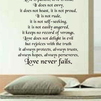 Love Is Patient Love Is Kind Decal Sticker Wall