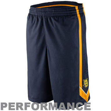 Nike Marquette Golden Eagles Tourney 1 Performance Basketball Shorts - Navy Blue