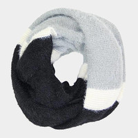 Black Multi Colored Soft Infinity Scarf