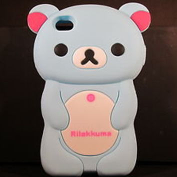 "iPHONE 4 ""RILAKKUMA BEAR CASE"" FAST FREE SHIP +GET IT IN DAYS NOT WEEKS+QL1 A"