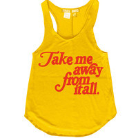 Take me away from it all Vintage Style 70's Racerback Tank Top