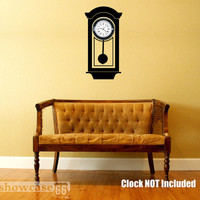 Hanging Grandfather Clock Vinyl Wall Art FREE by showcase66