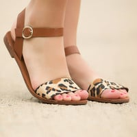 The Places You'll Go Sandals-Leopard