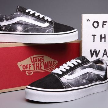 VANS Canvas Old Skool lightning Print Flats Sneakers Sport Shoes