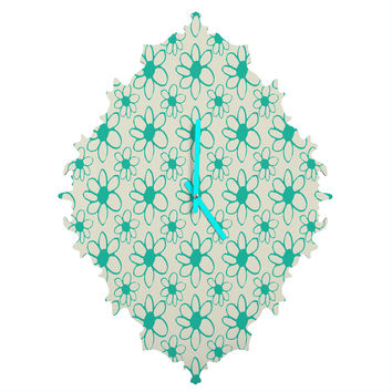 Allyson Johnson Mod Flowers Baroque Clock