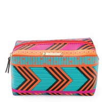 Colorful Tribal Print Cosmetic Case & Makeup Bag | Frida Print Pouf | Stella & Dot