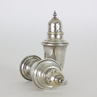 Gorham Sterling Silver Salt & Pepper Shakers Circa 1950s Not Weighted