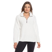 Frosty Tipped Women's Stadium Pullover in Ivory by True Grit (Dylan) - FINAL SALE