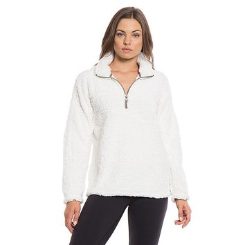 Frosty Tipped Women's Stadium Pullover in Ivory by True Grit (Dylan)