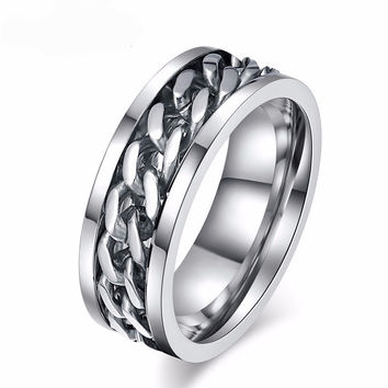 Men's Chain Titanium Ring