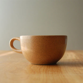 Vintage Heath Ceramics Tea Cup in Warm Brown