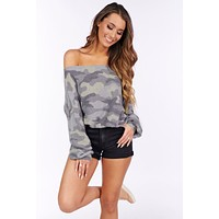 The Story Of Yesterday Long Sleeve Top (Grey/Multi)