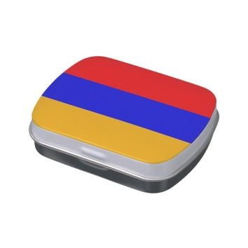 Patriotic candy tins with Flag of Armenia