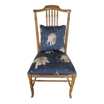 Pre-owned 1980's Drexel Heritage Faux Bamboo Accent Chair