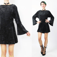 90s Witchy Crushed Velvet Dress