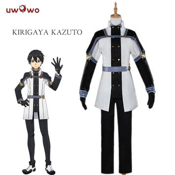 UWOWO Kirito Cosplay Sword Art Online Ordinal Scale Anime Kirigaya Kazuto Uwowo Costume Sword Art Online Cosplay Kirito Men