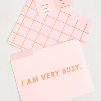 Paperwork It, Girl! Folder Set in Busy | Mod Retro Vintage Desk Accessories | ModCloth.com
