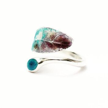 Women Leaf Natural Stone Ring #45