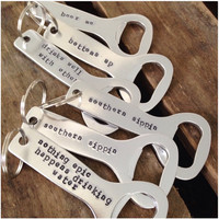 Stainless Bottle Opener Key Fobs