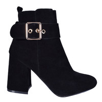 Sami Faux Suede Buckle Boot