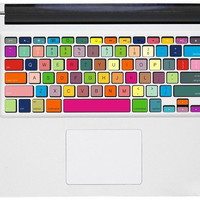 Colorful mac pro retina keyboard decals mac pro stickers mac keyboard decal mac stickers mac stickers macbook for  mac pro /air /laptop