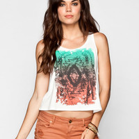 Full Tilt Tribal Gradient Womens Tank Cream  In Sizes