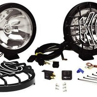 KC HiLiTES 801 Rally 800 Series Black Coated Stainless Steel 130w Spot Beam Light System