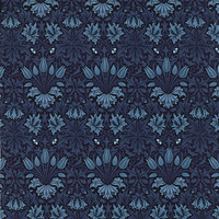 Morris Apprentice by Barbara Brackman for Moda Fabrics, Deep Blue 824112