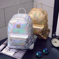 Holo Women's Backpack Shoulder Bags New Travel PU Leather Handbag Rucksack