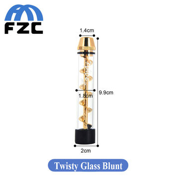Newest Twisty glass Blunt Easy Twisting and Vaping Corkscrew Design with Combo Helical Vaporizer for Dry Herb E Cigarette Kit