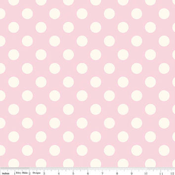 Light Pink Polka Dot Quilting Cotton Fabric, Riley Blake Designs, 1 Yard, more available
