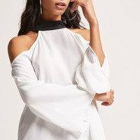 Open-Shoulder Contrast Top