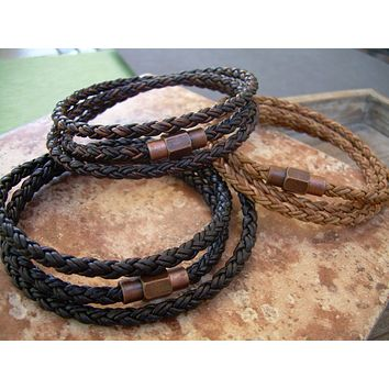 Men's  Bracelets Leather, Leather Bracelets for Men, Leather Bracelet, Men Bracelet, Magnetic Bracelet, Leather Wrap Bracelet, Mens