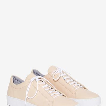 Vagabond Zoe Leather Sneaker - Nude