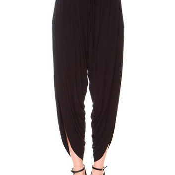 SIDE SLIT TULIP PANTS
