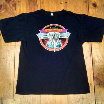 Vintage Van Halen Tour T-Shirt, Mens Medium Rock Music Tee