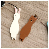 WM Cute Tall animal rubber phone strap