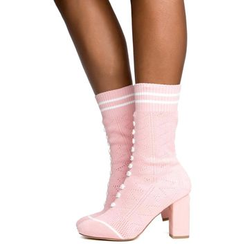 Cape Robbin Perry-1 Pink Women's Bootie