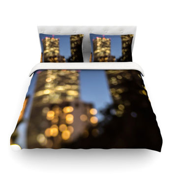 "Ann Barnes ""NOLA at Night"" City Lights Featherweight Duvet Cover"