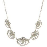 Silver Fanned Gem Collar Necklace by Charlotte Russe
