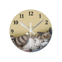 Lazy Cat Clock