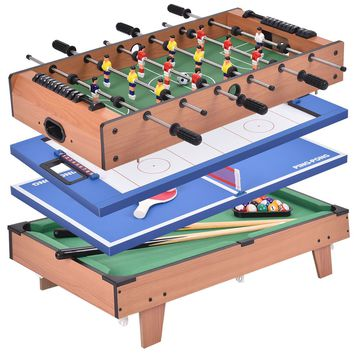 4-in-1 Swivel Air Hockey, Table Tennis, Billiard, Pool and Foosball Game Table
