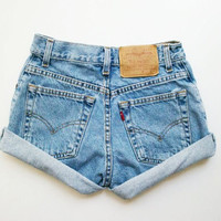 Rolled High Waisted Vintage Shorts